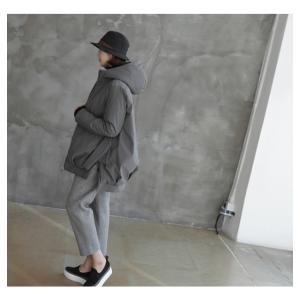 ジャケット レディース 40代 50代 60代 ファッション おしゃれ 女性 上品  黒  グレー ハーフ丈 中綿 ジップアップ ゆったり 秋 ミセス|alice-style|14