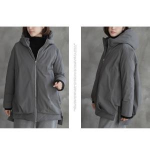 ジャケット レディース 40代 50代 60代 ファッション おしゃれ 女性 上品  黒  グレー ハーフ丈 中綿 ジップアップ ゆったり 秋 ミセス|alice-style|15
