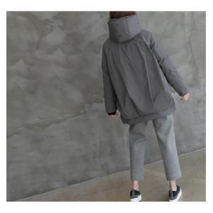 ジャケット レディース 40代 50代 60代 ファッション おしゃれ 女性 上品  黒  グレー ハーフ丈 中綿 ジップアップ ゆったり 秋 ミセス|alice-style|16