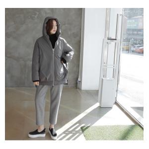 ジャケット レディース 40代 50代 60代 ファッション おしゃれ 女性 上品  黒  グレー ハーフ丈 中綿 ジップアップ ゆったり 秋 ミセス|alice-style|17