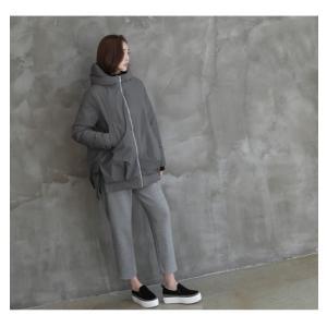ジャケット レディース 40代 50代 60代 ファッション おしゃれ 女性 上品  黒  グレー ハーフ丈 中綿 ジップアップ ゆったり 秋 ミセス|alice-style|21