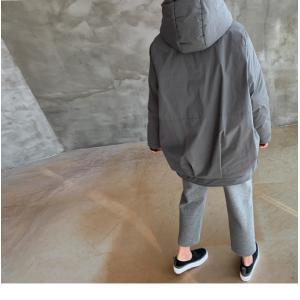ジャケット レディース 40代 50代 60代 ファッション おしゃれ 女性 上品  黒  グレー ハーフ丈 中綿 ジップアップ ゆったり 秋 ミセス|alice-style|06