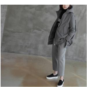 ジャケット レディース 40代 50代 60代 ファッション おしゃれ 女性 上品  黒  グレー ハーフ丈 中綿 ジップアップ ゆったり 秋 ミセス|alice-style|10