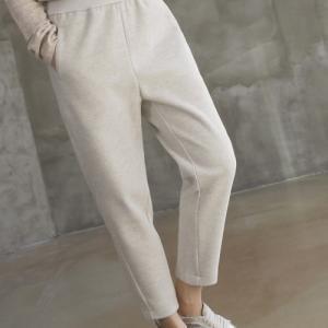 パンツ レディース 40代 50代 60代 ファッション おしゃれ 女性 上品  黒 スウェット 秋 ミセス|alice-style