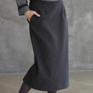 スカート レディース 40代 50代 60代 ファッション おしゃれ 女性 上品  黒 ロング丈 ハイウエスト 無地 秋 ミセス|alice-style
