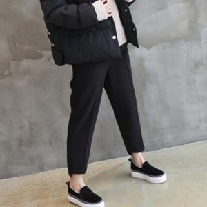 起毛バンディングパンツ レディース 40代 50代 60代 ファッション おしゃれ 女性 上品  グレー  無地 冬 ミセス alice-style