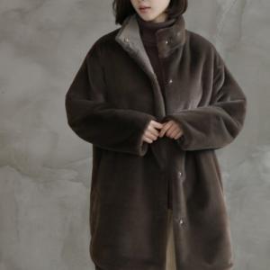 コート レディース 40代 50代 60代 ファッション おしゃれ 女性 上品  黒 リバーシブル ロング丈 起毛 秋 ミセス|alice-style