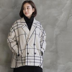 ジャケット レディース 40代 50代 60代 ファッション おしゃれ 女性 上品  ベージュ ハーフ丈 チェック 秋 ミセス|alice-style