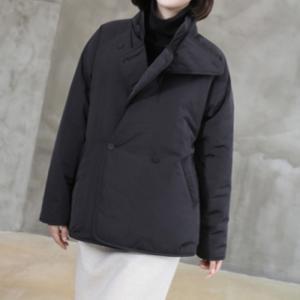 コート レディース 中綿 40代 50代 60代 ファッション おしゃれ 女性 上品  黒 ハーフ丈 秋 ミセス|alice-style