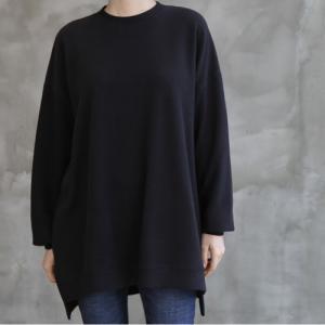 Tシャツ レディース 40代 50代 60代 ファッション おしゃれ 女性 上品  黒  ベージュ  グレー トップス 無地 長袖 秋 ミセス|alice-style