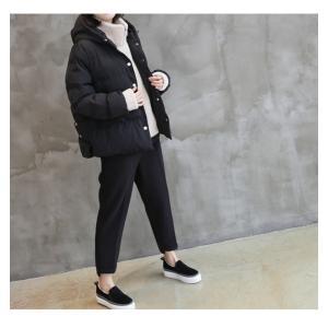 ハイネック レディース 40代 50代 60代 ファッション おしゃれ 女性 上品 ベージュ 二重ショート ジャンパー 長袖 無地 冬 ミセス|alice-style|02