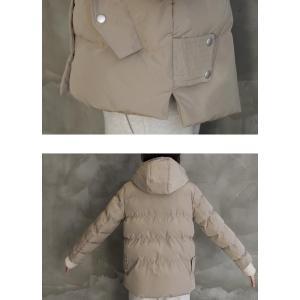 ハイネック レディース 40代 50代 60代 ファッション おしゃれ 女性 上品 ベージュ 二重ショート ジャンパー 長袖 無地 冬 ミセス|alice-style|10