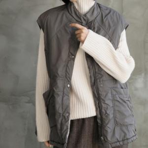 ベスト レディース 40代 50代 60代 ファッション おしゃれ 女性 上品  黒  グレー  カーキ 緑  カーキ 緑 ハーフ丈 起毛 秋 ミセス|alice-style