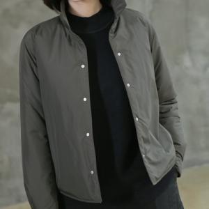 ジャケット レディース 40代 50代 60代 ファッション おしゃれ 女性 上品  黒  白  カーキ 緑  カーキ 緑 ハーフ丈 無地 中綿 秋 ミセス|alice-style