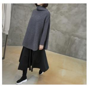 フレアスカート レディース 40代 50代 60代 ファッション おしゃれ 女性 上品 黒 レザー配色 冬 ミセス|alice-style|15