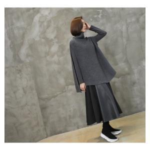 フレアスカート レディース 40代 50代 60代 ファッション おしゃれ 女性 上品 黒 レザー配色 冬 ミセス|alice-style|16