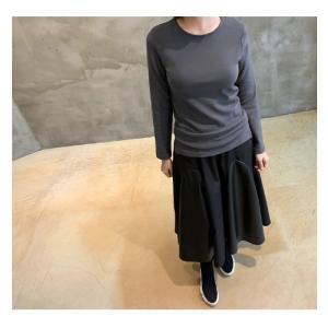 フレアスカート レディース 40代 50代 60代 ファッション おしゃれ 女性 上品 黒 レザー配色 冬 ミセス|alice-style|03