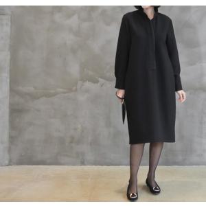 ワンピース レディース 40代 50代 60代 ファッション おしゃれ 女性 上品  黒 スーツワンピース 無地 きれいめ 長袖 膝丈 通勤 冬 ミセス|alice-style|12