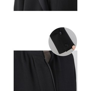 ワンピース レディース 40代 50代 60代 ファッション おしゃれ 女性 上品  黒 スーツワンピース 無地 きれいめ 長袖 膝丈 通勤 冬 ミセス|alice-style|21