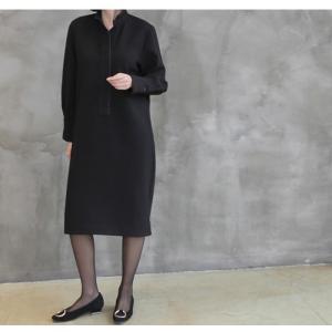 ワンピース レディース 40代 50代 60代 ファッション おしゃれ 女性 上品  黒 スーツワンピース 無地 きれいめ 長袖 膝丈 通勤 冬 ミセス|alice-style|07