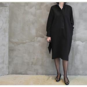 ワンピース レディース 40代 50代 60代 ファッション おしゃれ 女性 上品  黒 スーツワンピース 無地 きれいめ 長袖 膝丈 通勤 冬 ミセス|alice-style|08
