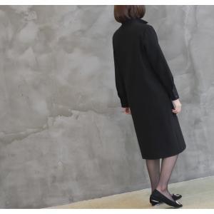 ワンピース レディース 40代 50代 60代 ファッション おしゃれ 女性 上品  黒 スーツワンピース 無地 きれいめ 長袖 膝丈 通勤 冬 ミセス|alice-style|10