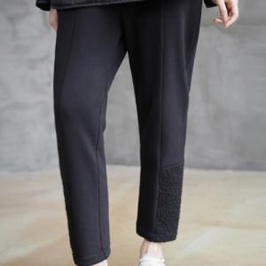 パンツ レディース 40代 50代 60代 ファッション おしゃれ 女性 上品  黒 バギーパンツ 起毛 冬 ミセス|alice-style
