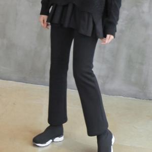 パンツ レディース 40代 50代 60代 ファッション おしゃれ 女性 上品  黒 レギンス 起毛 冬 ミセス|alice-style