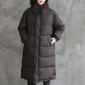 ダウンコート レディース 40代 50代 60代 ファッション おしゃれ 女性 上品  茶色 ロング丈 ダックダウン 冬 ミセス|alice-style