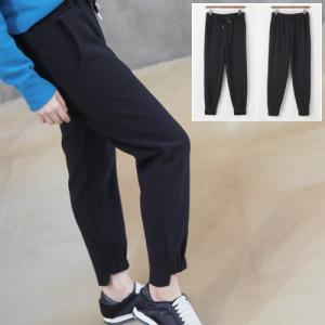 ジョガーパンツ レディース 40代 50代 60代 ファッション おしゃれ 女性 上品 黒 起毛バンディング 無地 冬 ミセス|alice-style