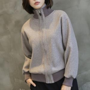 ハイネック アウター レディース 40代 50代 60代 ファッション おしゃれ 女性 上品 茶色 グレー ショートジャケット ウール 無地 冬 ミセス|alice-style