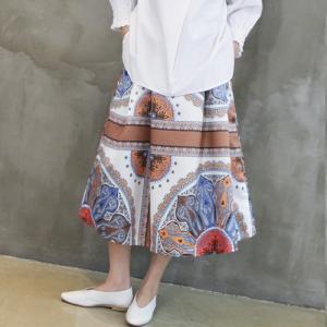 スカート レディース 40代 50代 60代 ファッション おしゃれ 女性 上品 ペイズリー柄 ロング スカート 冬 ミセス|alice-style
