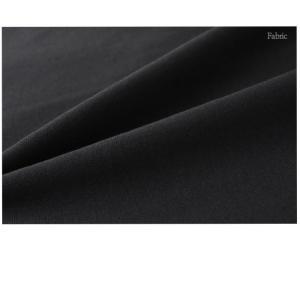 ワンピース レディース 40代 50代 60代 ファッション おしゃれ 女性 上品  黒  紺 青 ラインポイント Vネック 七分袖 裾スリット ワンピース 冬 ミセス|alice-style|13
