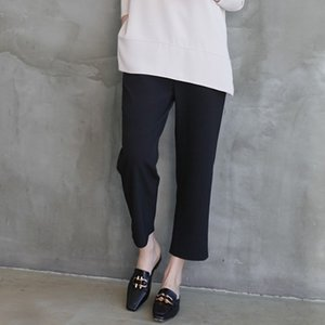 裾ダーツスラックス レディース 40代 50代 60代 ファッション おしゃれ 女性 上品 黒 グレー 無地 バンディングパンツ 冬 ミセス|alice-style