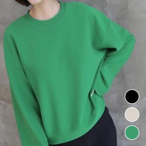 ブラウス レディース 40代 50代 60代 ファッション おしゃれ 女性 上品 黒 ラウンドTシャツ 丸首 ゆったりめ 長袖 無地 冬 ミセス|alice-style