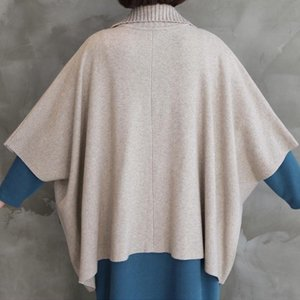 ケープ レディース 40代 50代 60代 ファッション おしゃれ 女性 上品 黒 ベージュ ニットカーディガン 無地 冬 ミセス|alice-style
