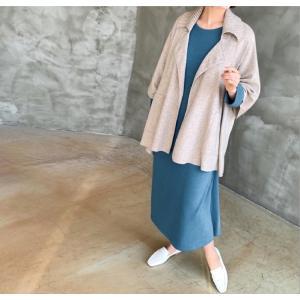 ワンピース ルーズフィット レディース 40代 50代 60代 ファッション おしゃれ 女性 上品 スリット 無地 ニットワンピース 長袖 冬 ミセス|alice-style|11