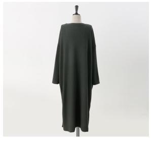 ワンピース ルーズフィット レディース 40代 50代 60代 ファッション おしゃれ 女性 上品 スリット 無地 ニットワンピース 長袖 冬 ミセス|alice-style|16
