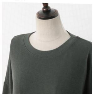 ワンピース ルーズフィット レディース 40代 50代 60代 ファッション おしゃれ 女性 上品 スリット 無地 ニットワンピース 長袖 冬 ミセス|alice-style|17