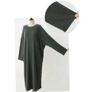 ワンピース ルーズフィット レディース 40代 50代 60代 ファッション おしゃれ 女性 上品 スリット 無地 ニットワンピース 長袖 冬 ミセス|alice-style|18