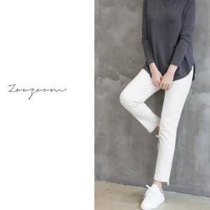 アンバランスパンツ  レディース 40代 50代 60代 ファッション おしゃれ 女性 上品  黒  ベージュ バンディング裾 無地 冬 ミセス|alice-style