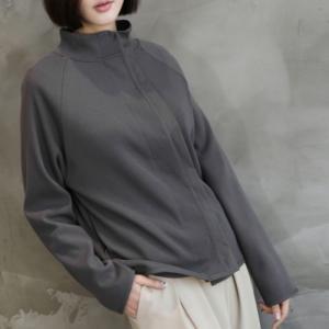 ラグラン袖 レディース 40代 50代 60代 ファッション おしゃれ 女性 上品 グレー カーディガン無地 長袖 冬 ミセス|alice-style