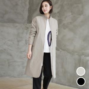 ロングジャケットベルト紐セット レディース 40代 50代 60代 ファッション おしゃれ 女性 上品 黒 ベージュ 無地 冬 ミセス|alice-style