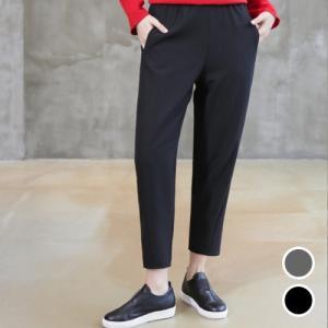 斜線切開半バギーパンツ レディース 40代 50代 60代 ファッション おしゃれ 女性 上品 黒 無地 冬 ミセス|alice-style