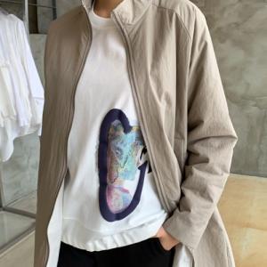 ラウンドネック レディース 40代 50代 60代 ファッション おしゃれ 女性 上品 黒 グレー プリント Tシャツ 長袖 冬 ミセス|alice-style