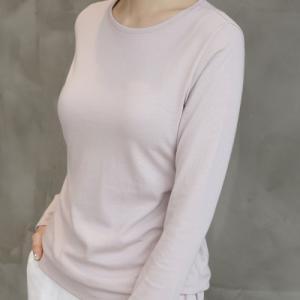ラウンドネック レディース 40代 50代 60代 ファッション おしゃれ 女性 上品 黒 Tシャツ 長袖 無地 冬 ミセス|alice-style