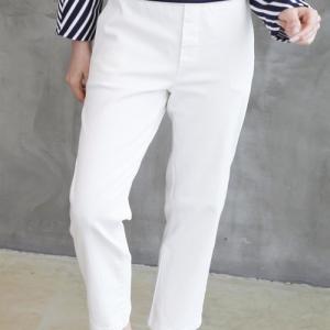バンディング レディース 40代 50代 60代 ファッション おしゃれ 女性 上品 ベージュ グレー バギーパンツ 無地 冬 ミセス|alice-style