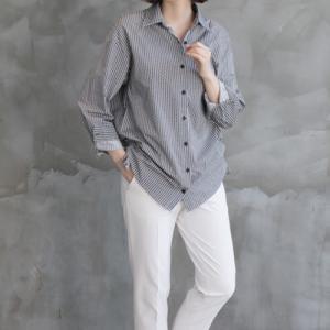 シャツブラウス レディース 40代 50代 60代 ファッション おしゃれ 女性 上品  黒 サイドストリング捺染ブラウスパターン柄 冬 ミセス|alice-style