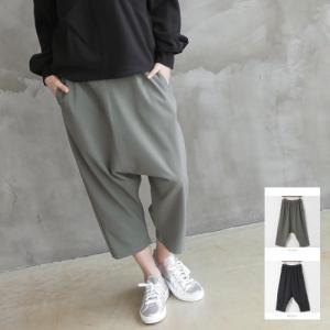 バギーパンツ 体形カバー レディース 40代 50代 60代 ファッション おしゃれ 女性 上品 黒 カーキ 緑 バンディング 無地 ミセス|alice-style