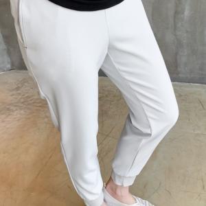 ジョガーパンツ レディース 40代 50代 60代 ファッション おしゃれ 女性 上品  黒  紺 青 裾絞りスリム 無地 冬 ミセス alice-style